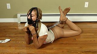 Self bondage strict Tie Up